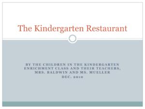 thekindergartenproject