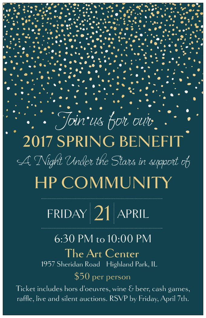 A Night Under The Stars - Spring Benefit 2017